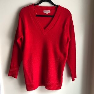 NWOT Philosophy Red V Neck Sweater